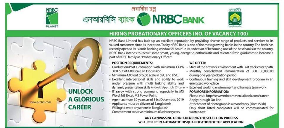 NRBC PO Job Circular 2020