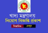 Ministry of Food Department Job Circular 2020
