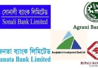 Combined 5 Bank Officer (Cash) Job Circular 2020