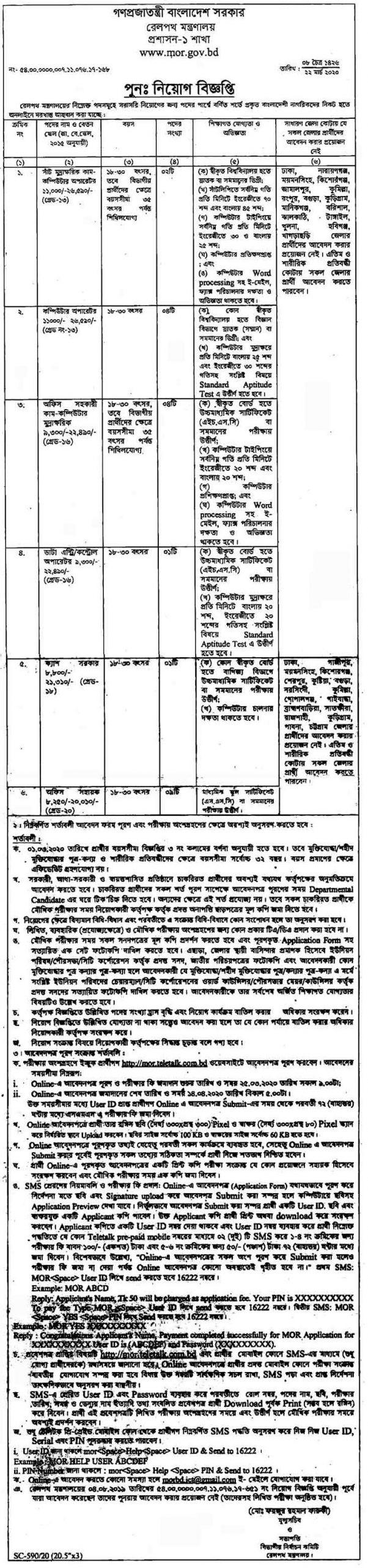 Railway Job Circular 2020
